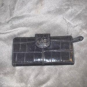 Gray COACH slim wallet